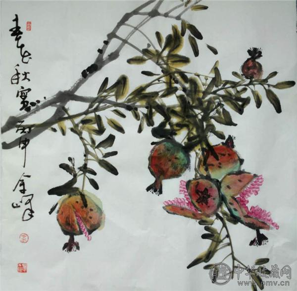 北京著名花鸟画家余峰做客中华收藏网 (9).png