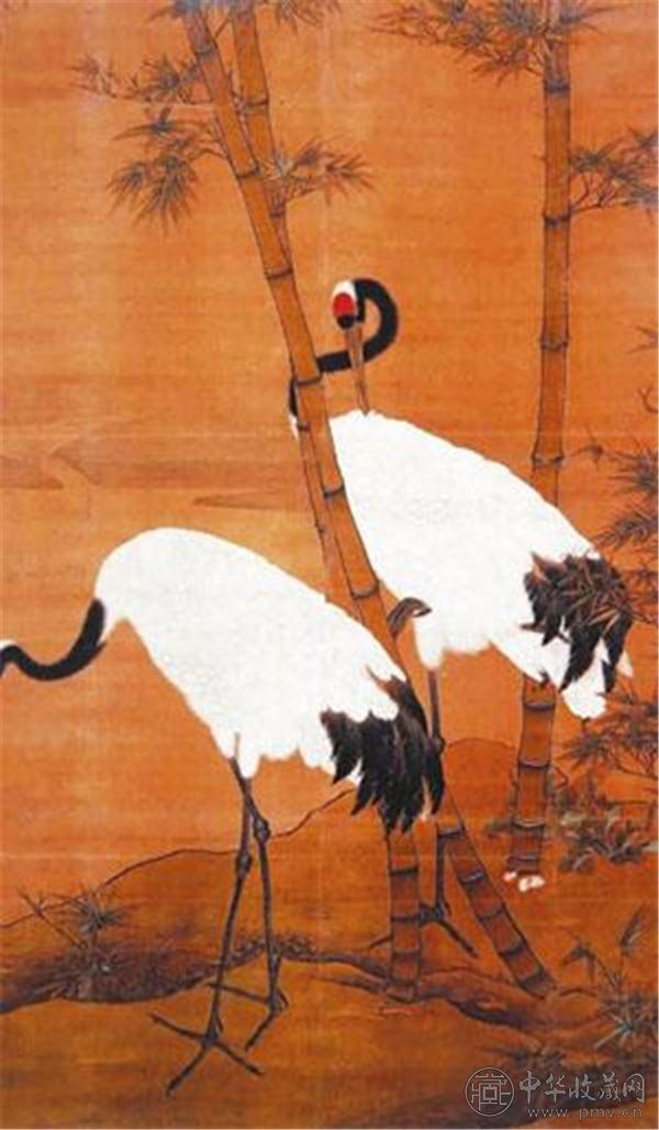 现藏于故宫博物院的明代边景昭 《竹鹤图轴》.jpg