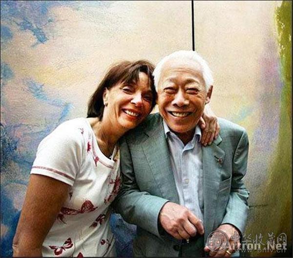 赵无极与第三任妻子梵思娃·马凯(Francoise Marquet).jpg