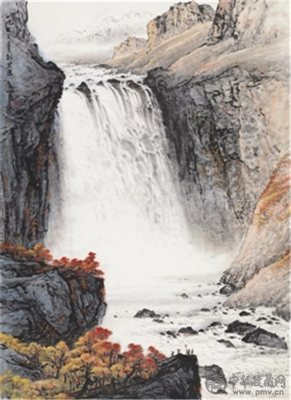 关山月《天池飞瀑》,成交价1420万元.jpg