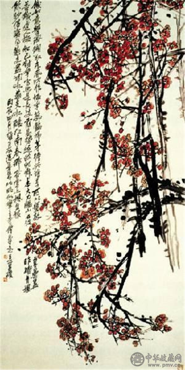 《梅花图》,纸本设色,1916年作,上海博物馆藏.jpg