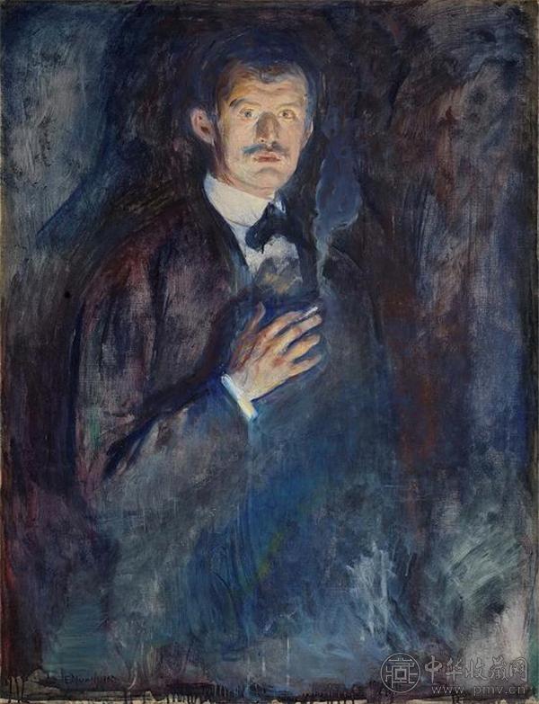 《拿着香烟的自画像》(1895).jpg