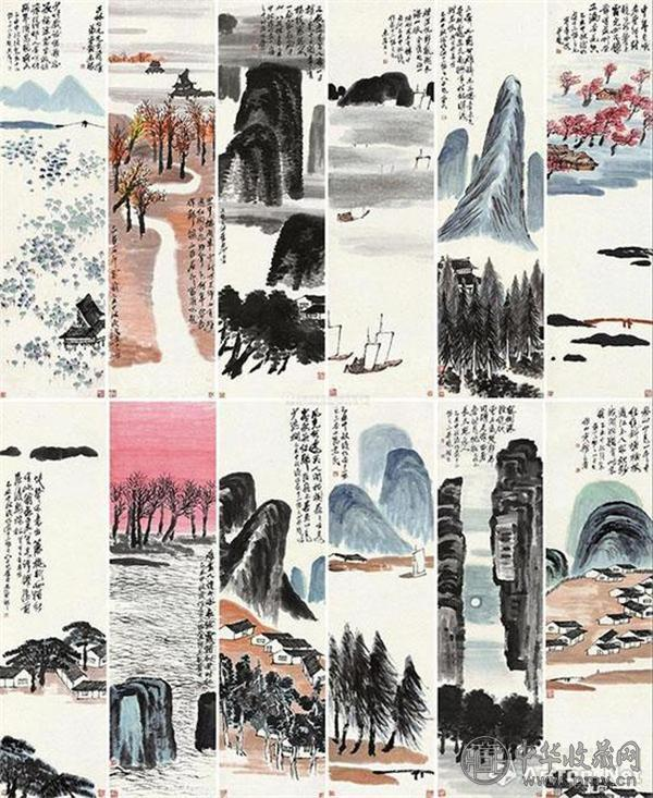 齐白石巨制《山水十二屏》以9.315亿元成交 创中国最贵艺术品世界纪录.jpg