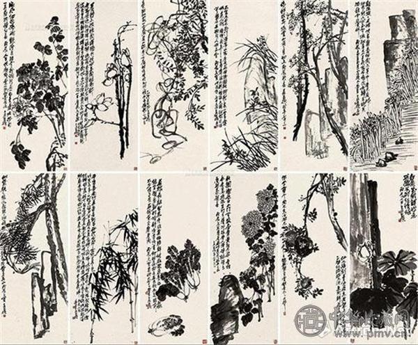 吴昌硕凭借2.093亿元《花卉十二屏》跻身亿元俱乐部.jpg