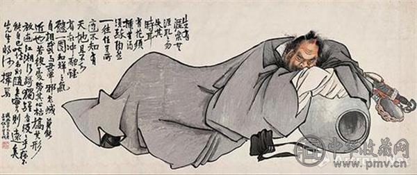 No.5 任熊《钟馗醉酒图》,成交价:552万元.jpg