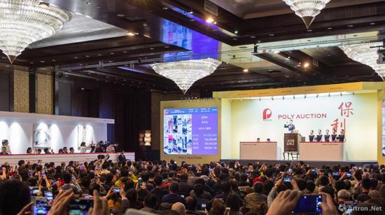 北京保利拍卖现场
