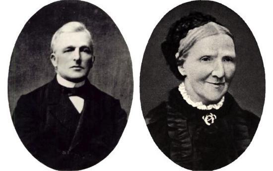 梵高的父亲Theodorus van Gogh 与母亲Anna Cornelia Carbentus