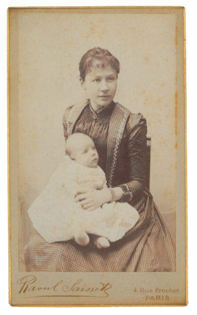 梵高的侄子文森特·威廉·梵高与母亲乔安娜,1890