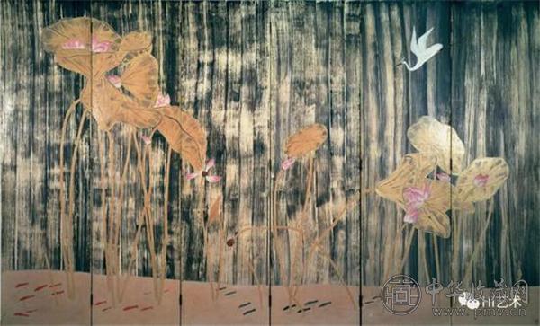 常玉《荷塘白鹤》182 x 297cm 木板油彩 1940 50年代 國巨基金會典藏.jpg