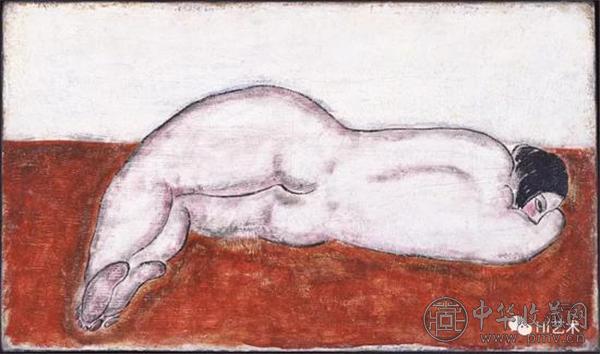 常玉《侧卧裸女》27x46cm 布面油画 1930年代.jpg