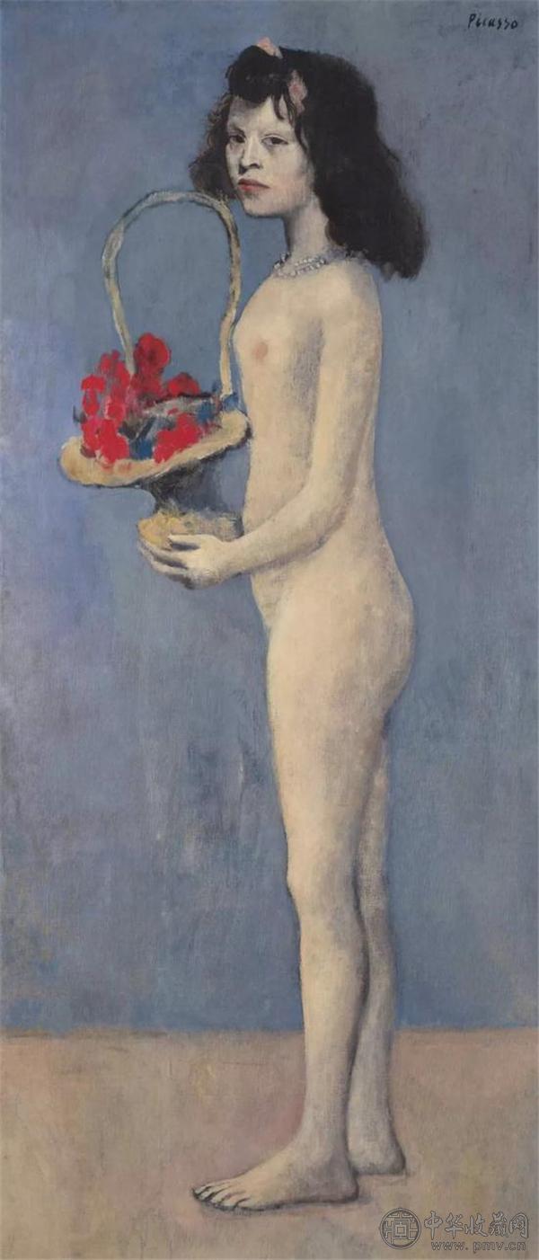 巴布罗·毕加索 《拿着花篮的女孩》 1905年作 154.8 x 66.1 公分.jpg