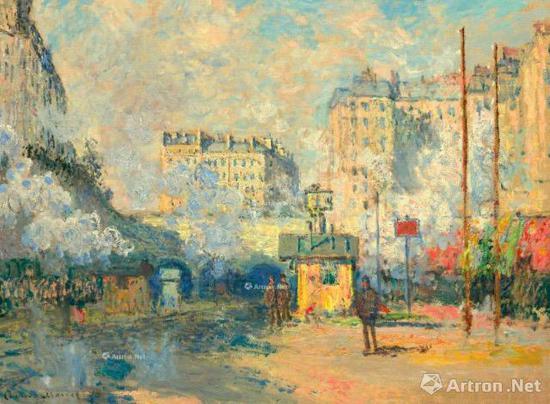 克劳德·莫奈(1840-1926) 《阳光下的圣拉扎尔火车站》 1877年作 3293.75万美元