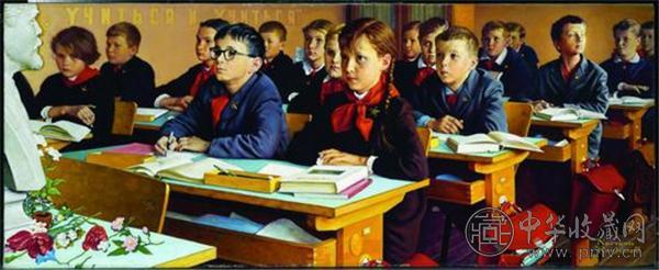 诺曼·洛克威尔的《苏联教室》(斯皮尔伯格藏).jpg