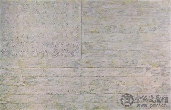 杰西帕·琼斯(Jasper Johns)《白色旗帜》.jpg