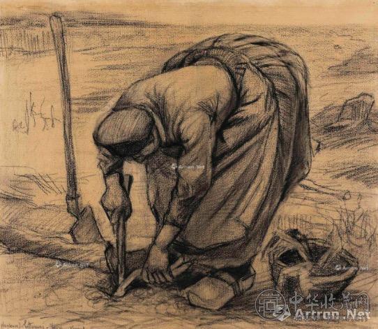 文森特·梵高 《种红菜头的农妇》 361.25万美元.jpg
