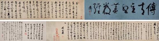 傅山 行草《华严经》   水墨绢本 手卷   23.5×213.5cm   成交价:RMB 19,550,000