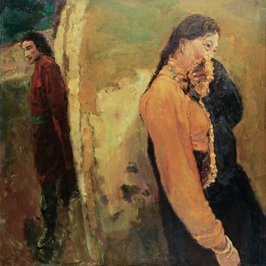 陈逸飞   西藏的男人和女人   布面 油画   150cm×150cm 2002   成交价:RMB 7,820,000