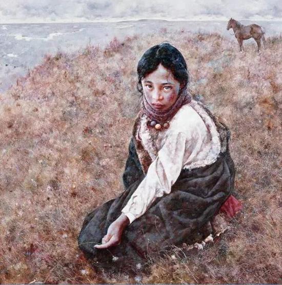 艾轩   荒原的黎明   布面 油画   110×110cm 2007   成交价:RMB 5,520,000