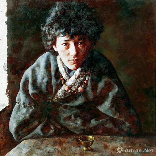 艾轩 风暴拍打的屋顶 2007年 布面 油画 90×90 cm估价:RMB 800,000-1,200,000