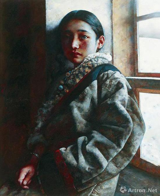 艾轩 风雪夜归人 1996年 布面 油画99.5×80 cm 估价:RMB 1,900,000-2,500,000