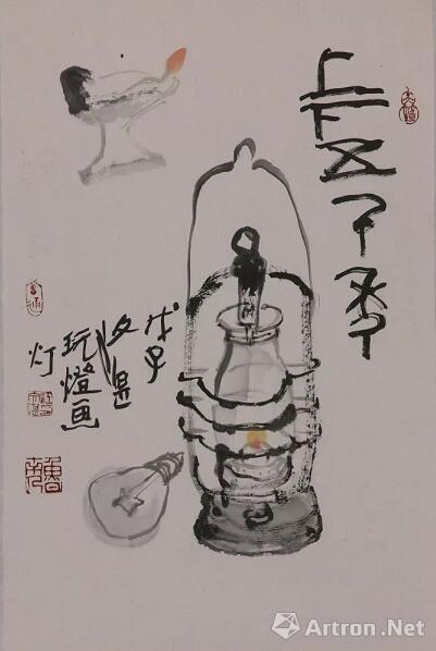 江文湛  上下五千年  69.5cm×46.5cm