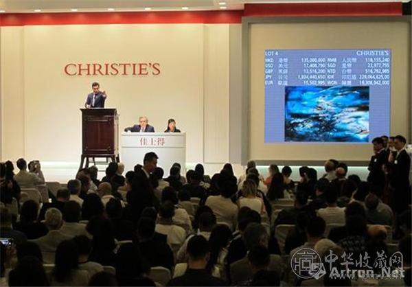 2017年香港佳士得春拍中,赵无极《29.09.64》以1.528亿港元,刷新了其拍卖纪录.jpg