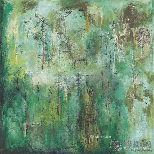 赵无极《翠绿森林》油彩画布 127×127.5cm约1950年作 2016香港佳士得春拍成交价: 7068万港元.jpg