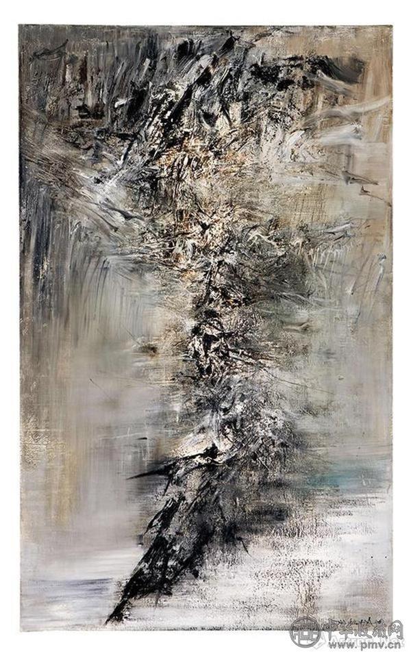 赵无极《24.03.59-31.12.59》布面油画 162.3×99.5cm 1959年 2017香港保利秋拍成交价:6136万港元.jpg