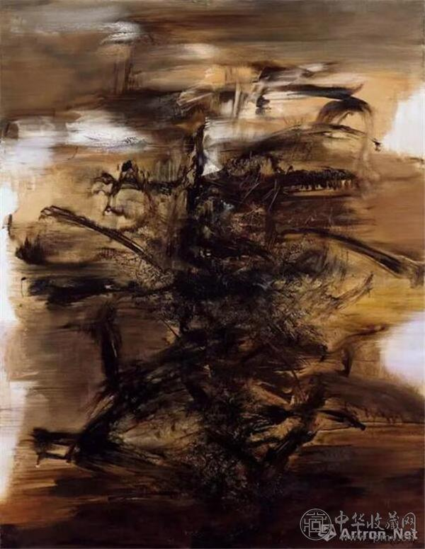 于2017香港佳士得上拍的赵无极 《29.01.64》油彩画布260 x 200 cm。 1964年作,估价:8500万-1.25亿港元.jpg