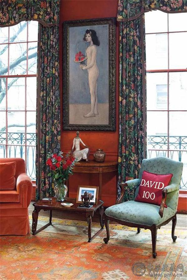 ▲《拿着花篮的女孩》曾置于大卫·洛克菲勒位于纽约65街大宅的书房内.jpg