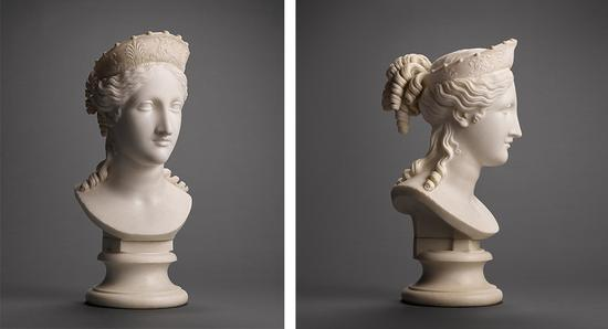 '和平女神半身像'(The Bust of Peace),1814年,Antonio Canova