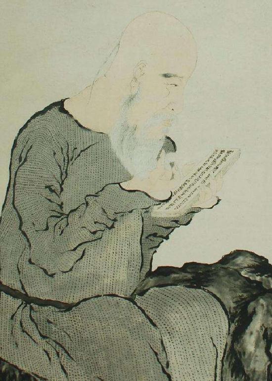 清 罗聘《金农像图》浙江省博物馆