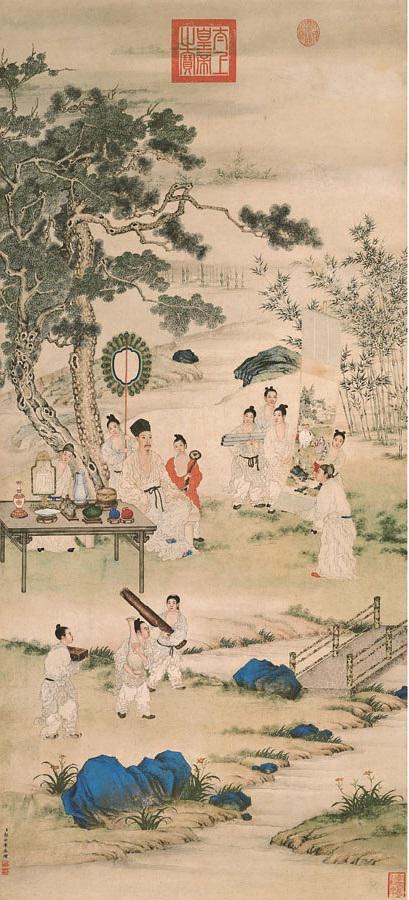 清 郎世宁 《弘历观画图像》 故宫博物院藏