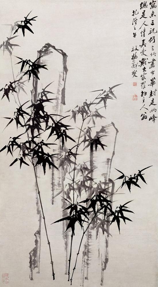 清 郑燮 《华封三祝图》 天津博物馆藏