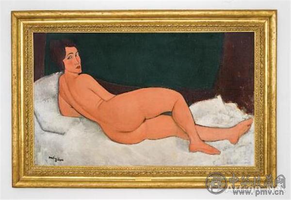 莫迪利亚尼,《侧卧的裸女》(1917年)。图片:致谢苏富比.jpg