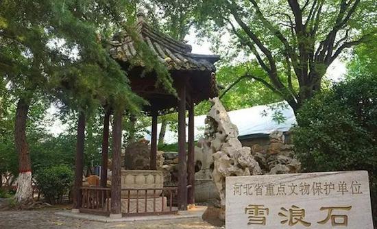 雪浪石现为河北省重点文物保护单位(阿钟摄)