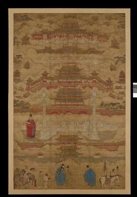 紫禁城图,明代朱邦画,安德森旧藏