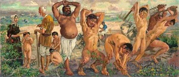 徐悲鸿 愚公移山 1940 年 布面 油画 46×107.5 cm.jpg