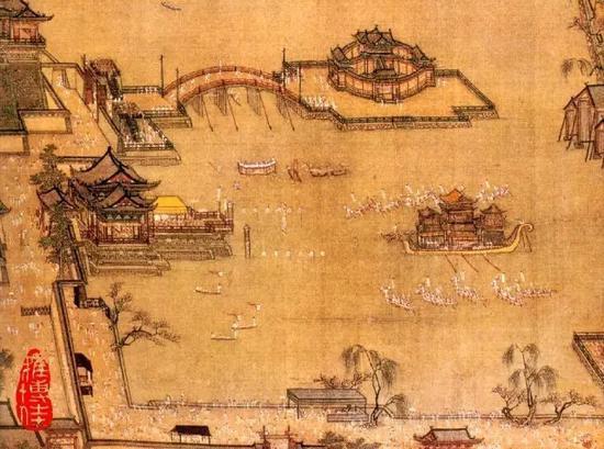 北宋 张择端《金明池争标图》