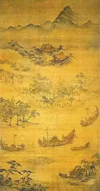 元 吴廷晖绘《龙舟夺标》 台北故宫博物院藏