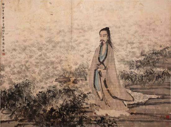 傅抱石,屈子行吟图,1944年