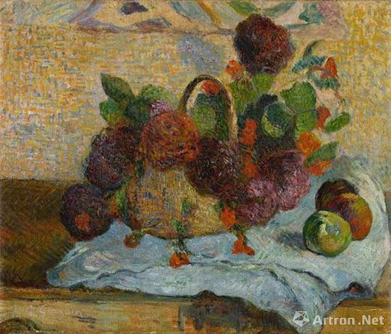 保罗·高更(Paul Gauguin) 《一篮鲜花》