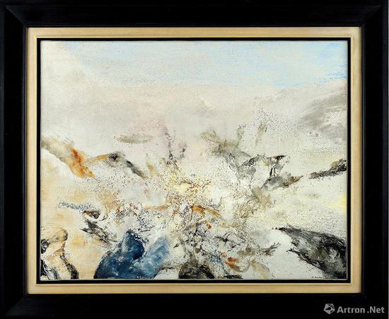 No.4徐悲鸿《喜马拉雅山全景》1940年作 布面油画 37×93.5cm