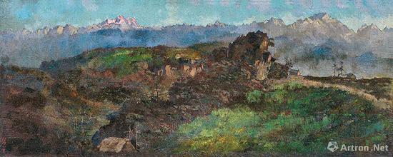 No.5林风眠《思》1920年代 纸本坦培拉 109×78 cm
