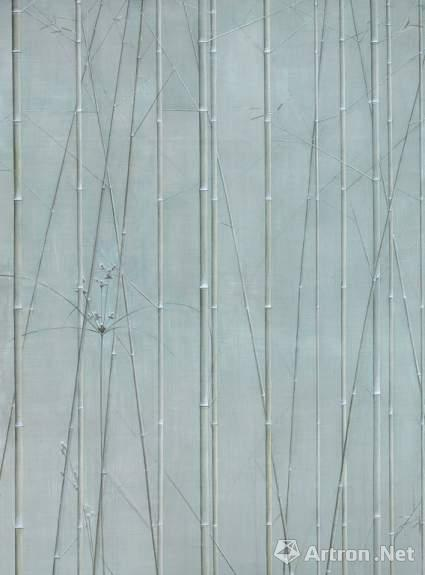 刘野《竹草图》布面油画 45×60cm×3 2007-2008年作 成交价:1035万元