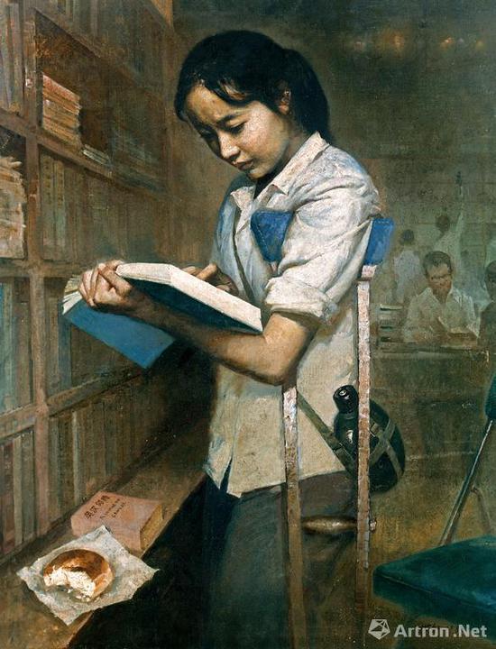 艾轩《有志者》布面油画 94.5×74.5cm 1980 成交价:2438万元