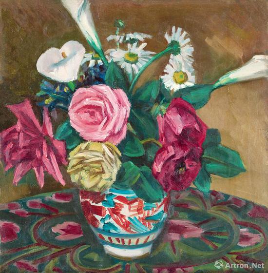倪贻德 《暗香》布面 油画 45.5×44cm 1960年代 成交价:575万元