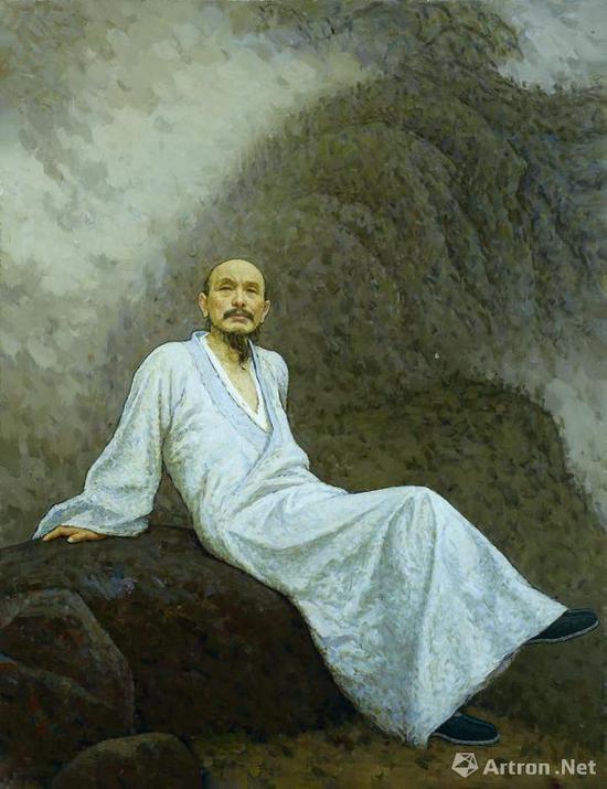 靳尚谊《画僧髡残》布面油画 150.5×114cm 1999年 成交价:2875万元