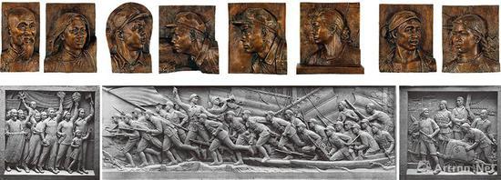刘开渠《人民英雄纪念碑浮雕》(一组八件)