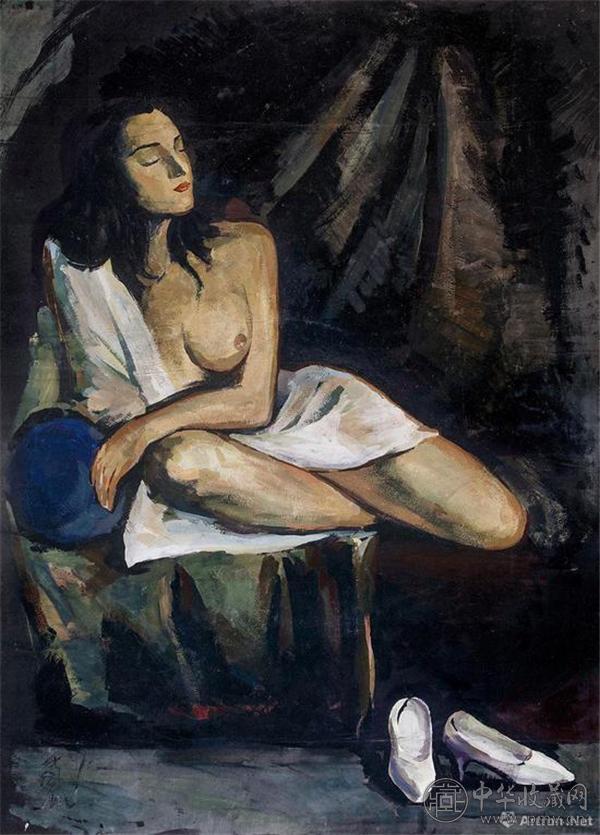 林风眠《思》1920年代 纸本坦培拉 109×78 cm.jpg